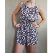 Short Jumpsuit with geometrical print