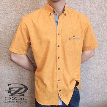 Men's cotton shirt short sleeve - 0216