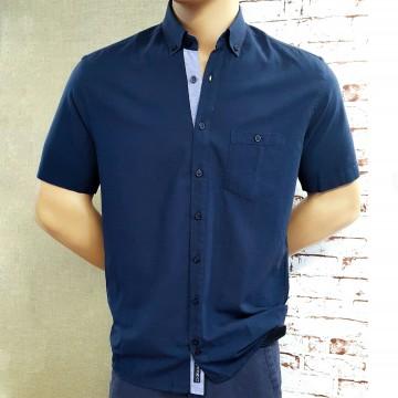 Големи Размери – Мъжка риза Лен/Памук с класическа яка