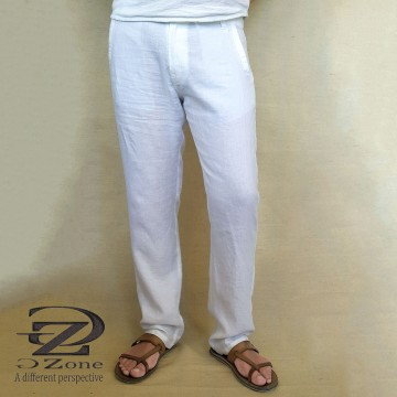 Big Sizes - 100% Linen Men's Trousers - G1901