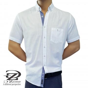 Мъжка риза Лен/Памук с класическа яка - 2001-1