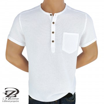 Men's Robe 100% Cotton with short sleeves and a pocket 2104-1