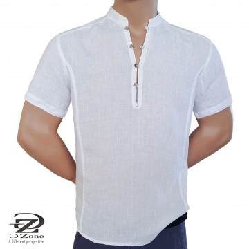 Big Sizes - Men's Linen Robe with Short Sleeves 1911
